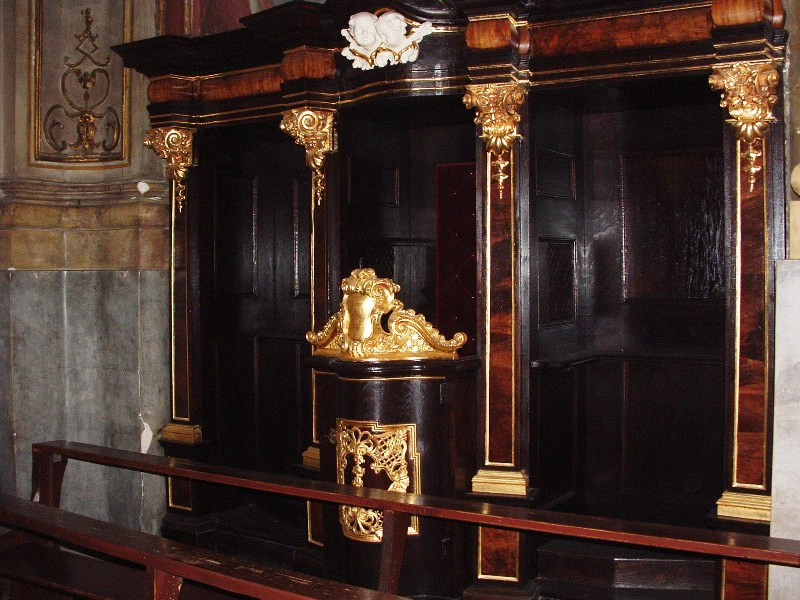 Konfesjonał wkaplicy św.Józefa