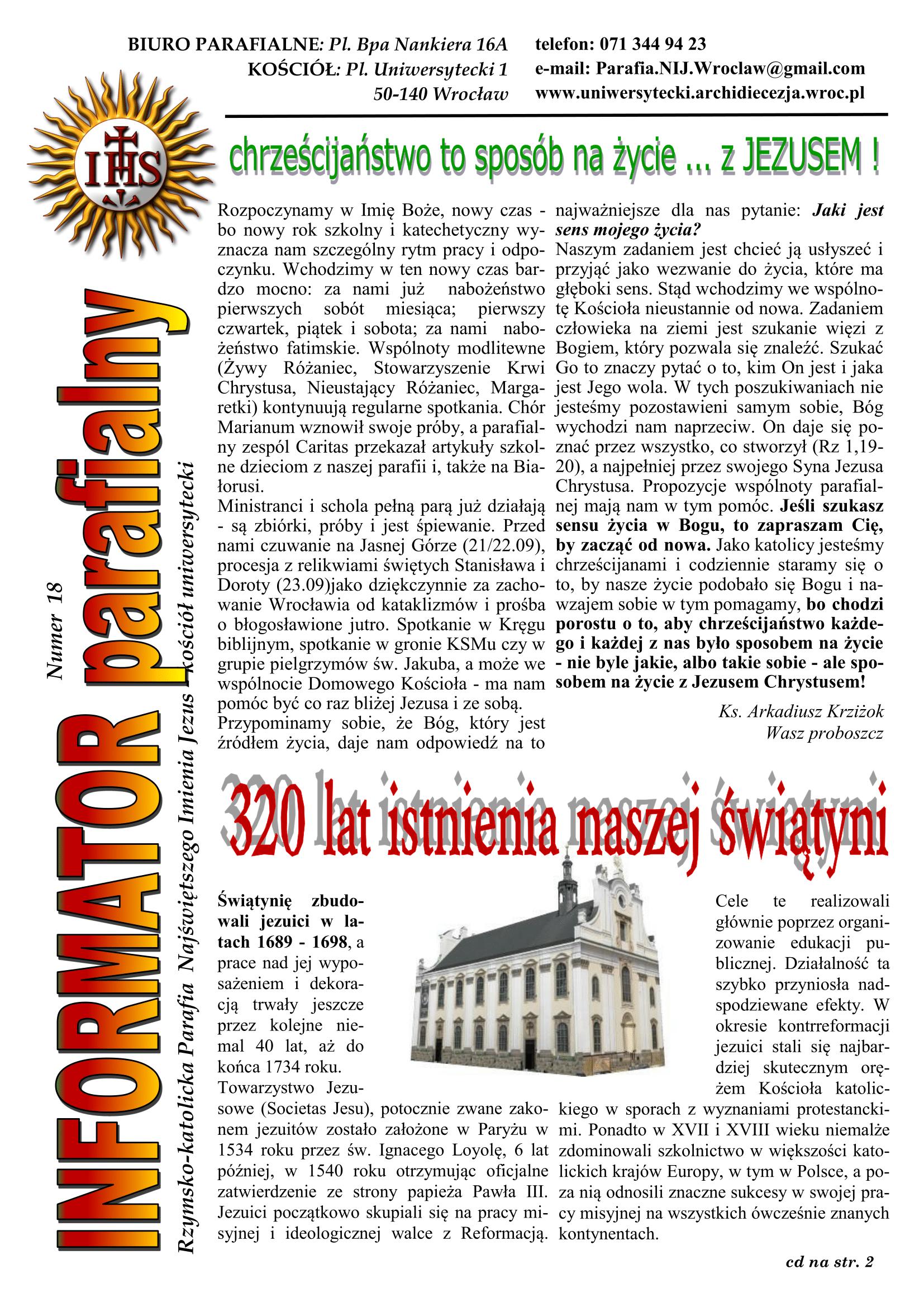 BIULETYN 18 Wrzesień 2018