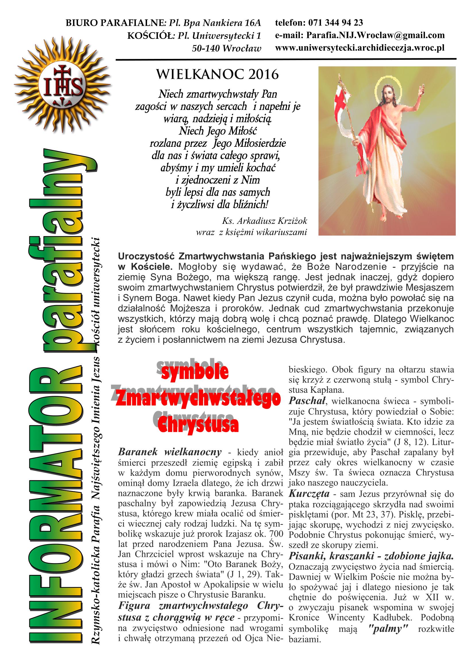BIULETYN 7 Wielkanoc 2016