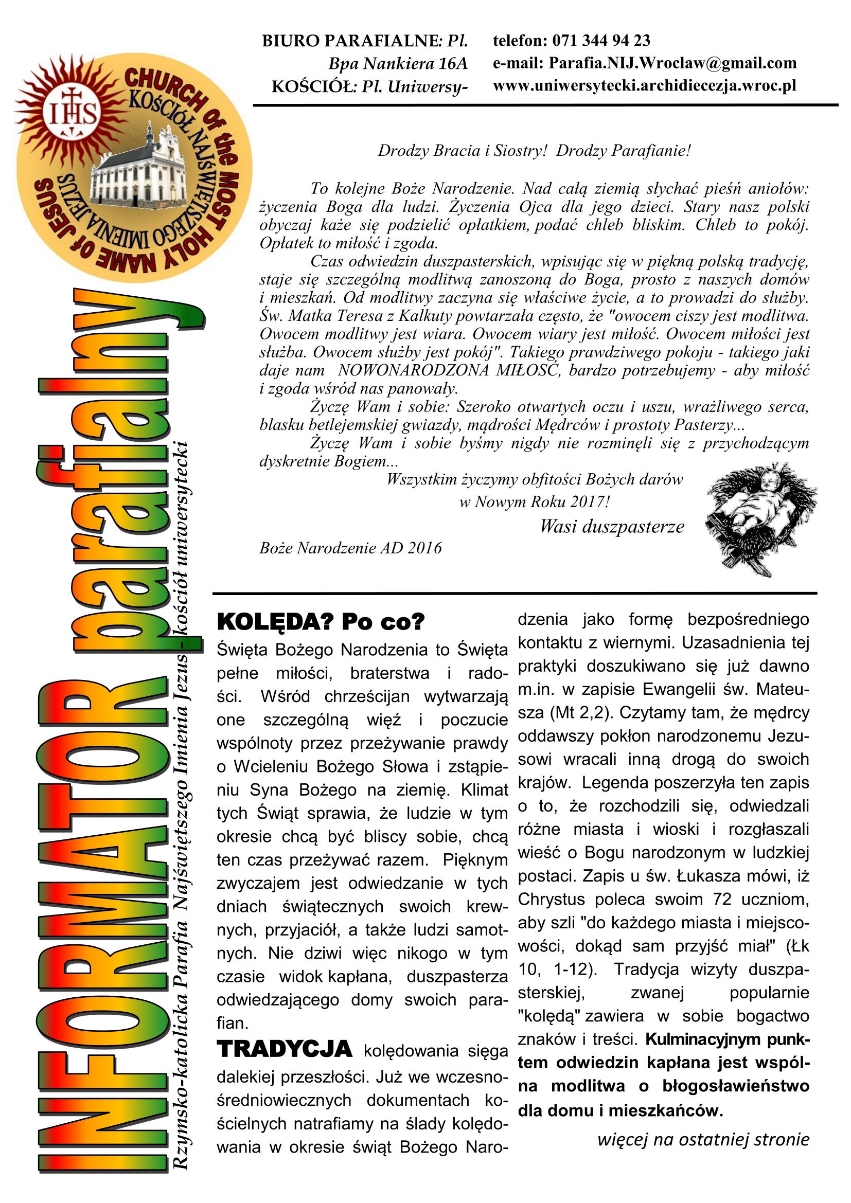 BIULETYN 9 Koleda 2017